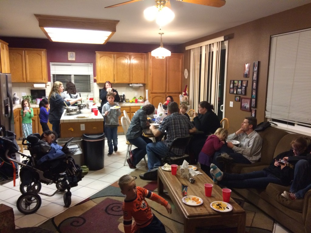 Just a small sampling of our Friday night  community.