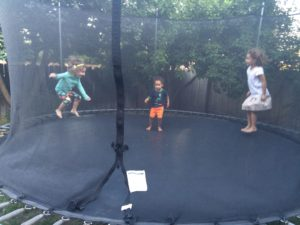 Everybody loves the trampoline!