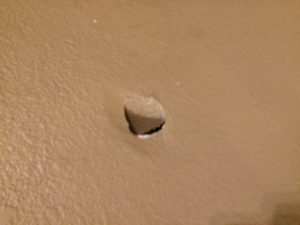 "3"" hole in the wall! I have no idea how this happened."